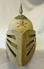 Vintage Odd Fellows Fraternal Skull Cross Bones Knights Louvered Visor Helmet