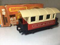Matchbox Eisenbahn Zug Wagon no.44 in OVP Passenger Coach UNBESPIELT ! Railway