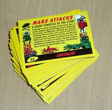 2017 Topps MARS ATTACKS Revenge YELLOW 110-card set 55 base+55 pencil art+ BOX