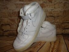 Nike Air Force 1 Genuine Leather Size 11.5 White Mid NO LACES
