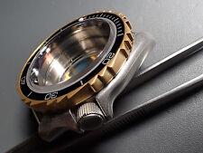THE.KHAOS.ONE MATT GOLD CUSTOM BEZEL FOR SEIKO SKX007 7S26 - 020 DX-02-MG