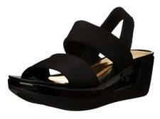 c23385944 Kenneth Cole Reaction Pepe Pot Acrylic Wedge Sandals Womens 8 M Black