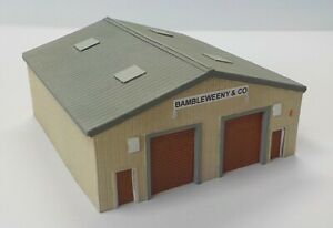 N Scale Modern Industrial Unit - twin bay with ridged roof (Code NB10)