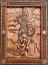 Slavic mythology Perun the god of thunder and lighting wood carving free shippin