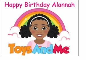 A4 Personalised Edible Icing Cake Topper Happy Birthday Tiana TT Toys & Me