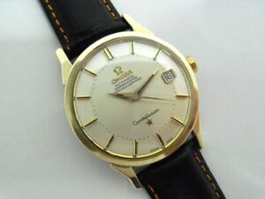 "STUNNING OMEGA CONSTELLATION DATE ""PIE-PAN"" GOLD/SS AUTOMATIC WATCH Ca.1960's."