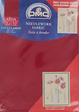 DMC NEEDLEWORK CROSS STITCH FABRIC AIDA RED 321 14 COUNT 50cms x 75cms