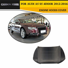 Carbon Car Front  Hood Bonnet Cover Refit for Audi A5 S5 Sportback 4-D 12-16