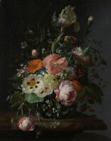 """perfect oil painting handpainted on canvas """"still life with flowers  """""""