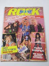 Rock Scene Magazine-February 1987 Def Leppard Alice Cooper Randy Rhoads-Metal