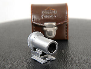 Lovely NIKON or CONTAX Rangefinder 13.5cm 135mm EP VIEWFINDER + LEATHER CASE