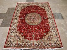 Exclusive Love Sun Floral Area Rug Hand Knotted Wool Silk Carpet (6 x 4)'