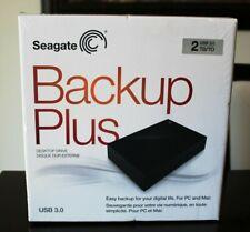 Seagate BACKUP PLUS 2TB USB 3.0 Desktop Drive SRD00F2 - SEALED NIB
