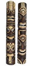 2 Tiki Masks 100cm Hawaii Maui Wooden Masks Mask Wall Mask Wall Masks