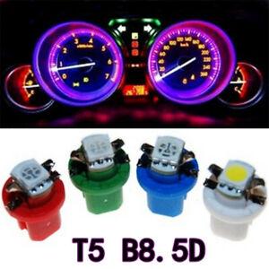 50Pcs T5 B8.5D 5050 SMD LED Indicator Gauge Dashboard Dash Side Lights Bulbs