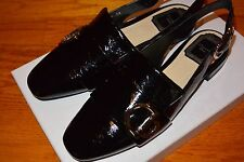 NIB DIOR Heel Strappy Flats Crinkled Lambskin AUTH $860