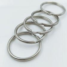 25PCS Nickel Key Rings Split Ring Hoop Metal Loop Keychain Accessories 20mm