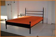 Klassisches Doppelbett Julius 140 x 200 mit gehämmertem Blech, inkl. Lattenrost