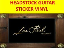 LES PAUL CLASSIC GOLD HEADSTOCK STICKER VISIT OUR STORE WITH MANY MORE MODELS