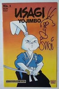 Usagi Yojimbo #1 Signed & Sketch Stan Sakai 1987 Fantagraphics NETFLIX NM + COA