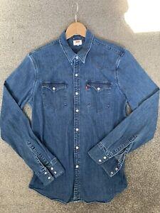 Levis Denim Blue Shirt Mens Medium hardly worn
