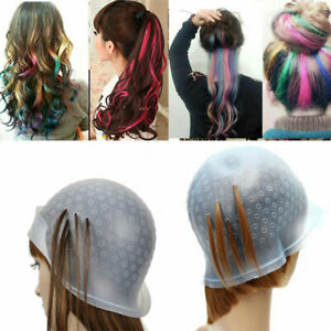 Magicap Reusable Hair Coloring Highlighting Rubber Cap Streaking with Hook UK!!