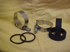 Harley,Sportster,57-77 up date kit,aircraft clamps,black rubbers and spacer