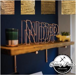 Reclaimed ✅Scaffolding Shelf Scaffold Board Rustic Shelves Industrial Solid Wood