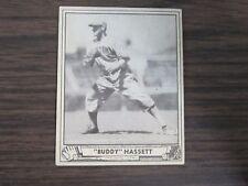 1940 Play Ball # 62 John Buddy Hassett Card (B17) Boston Bees