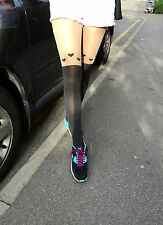 Sexy Heart Tattoo Jacquard Pantyhose Tights