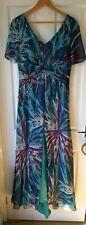 Gorgeous BNWT Heine Turquoise, Purple,  Blue Embellished Maxi Dress Sz 16 £149