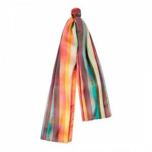 Paul Smith Scarf - BNWT Signature Artist Multi Stripe 100% Silk Scarf RRP: £120