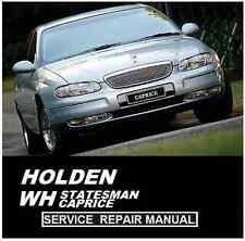 WH HOLDEN STATESMAN WH CAPRCE WH GRANGE V6 V8 LS1   WORKSHOP REPAIR MANUAL CD