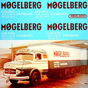 Mogelberg Esbjerg Danmark Different Old Mercedes 1:50 Truck Decal Sticker