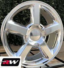 "20"" inch 20 x8.5"" Wheels for Chevy Avalanche Polished Aluminum LTZ Rims"