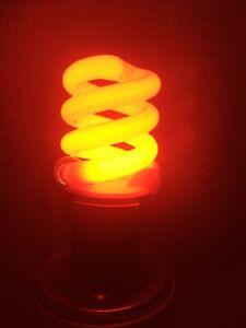 "Red Colored CFL ""mood light"" Bulb"