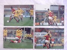 Original press photos Wrexham v Hartlepool 20.10.1990 x 8 différents