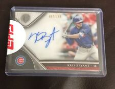 2017 TOPPS TRIBUTE KRIS BRYANT ON CARD AUTO AUTOGRAPH 87/100 CUBS NICE
