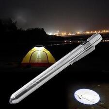 MINI Flashlight Medical First Aid LED Pen Light Doctor Nurse Emergency Silver GQ