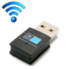 300Mbps Mini Wireless USB Wi-fi Wlan Adapter 802.11 b/g/n Network LAN Dongle New