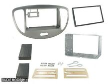 Hyundai i10 08 on SILVER Double Din Car Stereo Fitting Kit Facia CT23HY25