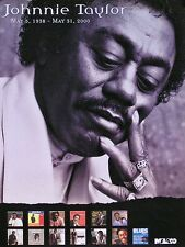 Johnnie Taylor CD Catalog 1938-2000 Memorial Poster