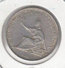 CRSEJ 0139 MONEDA ITALIA PLATA 500 LIRAS AÑO 1961