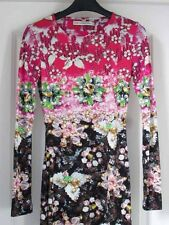 Mary Katrantzou Pinkimon Pink Green Black Jewel Bead Ombré Silk Jersey Dress XS