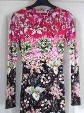 Mary Katrantzou Pinkimon Pink Green Black Jewel Bead Ombré Silk Jersey Dress XS