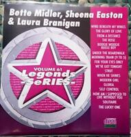 LEGENDS KARAOKE CDG BETTE MIDLER,SHEENA EASTON & LAURA BRANIGAN #61 17 SONGS
