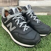 UK12 New Balance 574 Special Edition Trainers - Black/Grey - Comfort Casuals