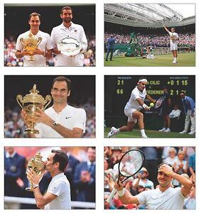 Roger Federer 8 Times Wimbledon Champion POSTCARD SET
