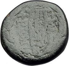PHILADELPHIA Lydia 2CenBC Authentic Ancient Greek Coin ZEUS Kithara LYRE i62269
