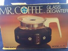Vintage Mr. Coffee Glass Decanter, Coffee Pot, Model D-7C, In Box, Replacement